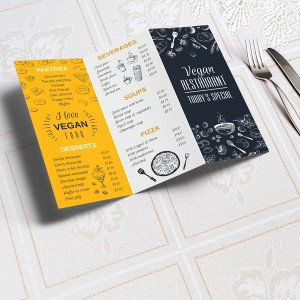 Disposable Folded Menu